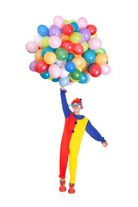Happy Joker With Balloons